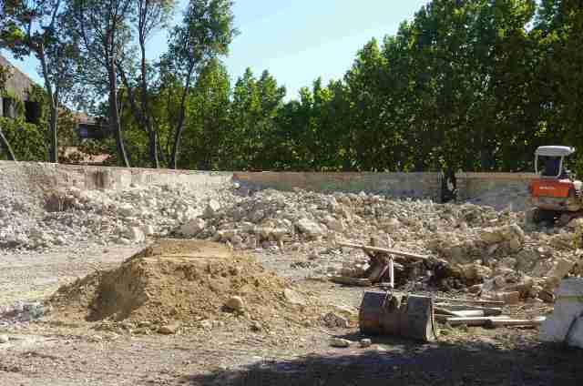 mur pineau rue ecoles arrase