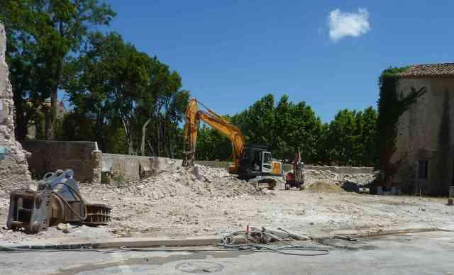 vue generale demolition sans arche