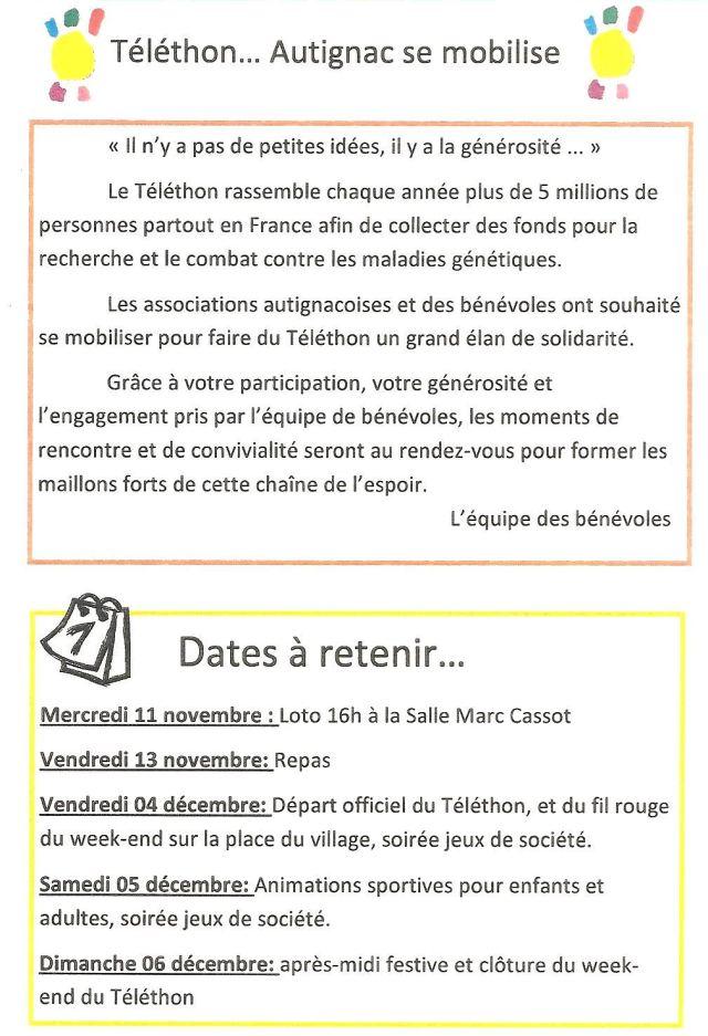 page1 programme telethon 2015