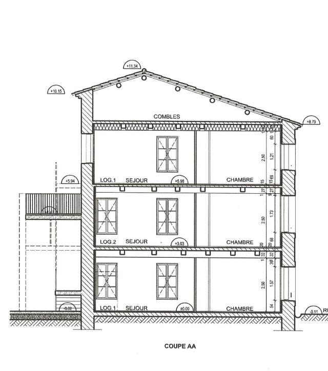 coupe 3 logements